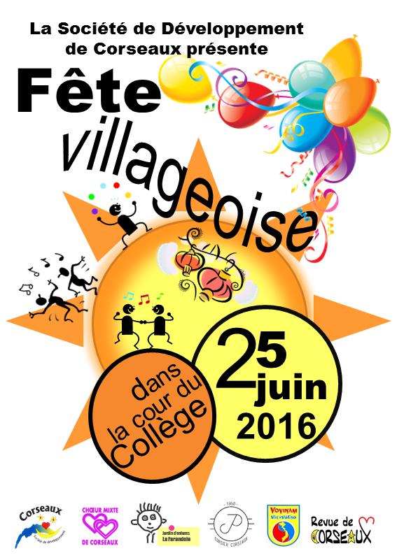 Fête villageoise 2016 recto